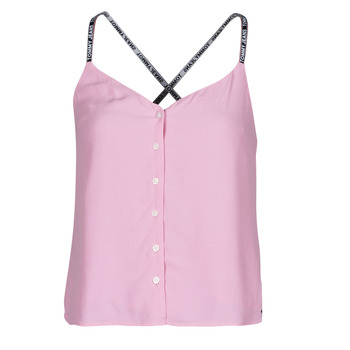Textil Mulher Tops / Blusas Tommy Jeans TJW CAMI TOP BUTTON THRU Rosa