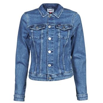 Textil Mulher casacos de ganga Tommy Jeans VIVIANNE SLIM DENIM TRUCKER NMBS Azul