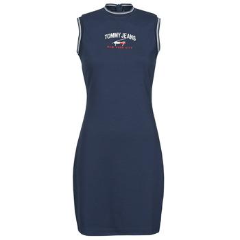 Textil Mulher Vestidos curtos Tommy Jeans TJW TIMELESS SCRIPT DRESS Marinho