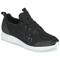 Sapatos Homem Sapatilhas Calvin Klein Jeans RUNNER SNEAKER LACEUP MESH Preto