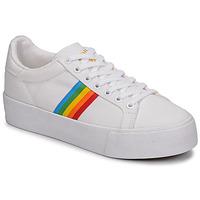 Sapatos Mulher Sapatilhas Gola ORCHID PLATEFORM RAINBOW Branco / Multi