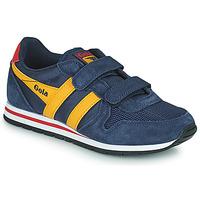 Sapatos Rapaz Sapatilhas Gola DAYTONA VELCRO Marinho / Amarelo