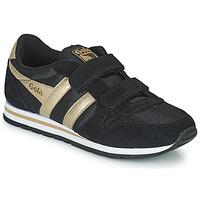 Sapatos Rapariga Sapatilhas Gola DAYTONA MIRROR VELCRO Preto / Ouro