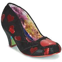 Sapatos Mulher Escarpim Irregular Choice HEART ON YOUR SLEEVE Preto