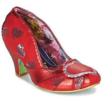 Sapatos Mulher Escarpim Irregular Choice HEART ON YOUR SLEEVE Vermelho