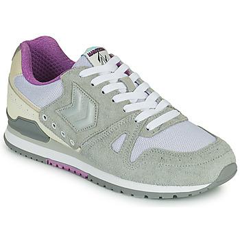 Sapatos Mulher Sapatilhas Hummel MARATHONA SUEDE Cinza / Violeta