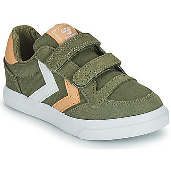 Sapatos Criança Sapatilhas Hummel STADIL LOW JR Verde