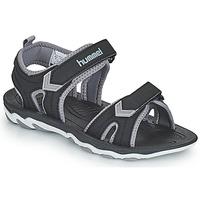 Sapatos Criança Sandálias desportivas Hummel SANDAL SPORT JR Preto