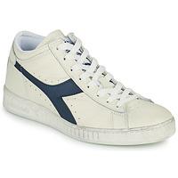 Sapatos Sapatilhas de cano-alto Diadora GAME L WAXED ROW CUT Branco / Azul