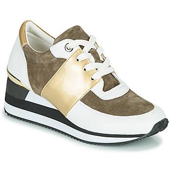 Sapatos Mulher Sapatilhas Karston SILMON Branco / Ouro