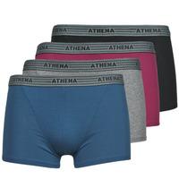 Roupa de interior Homem Boxer Athena BASIC COTON  X4 Cinza / Bordô / Azul / Preto