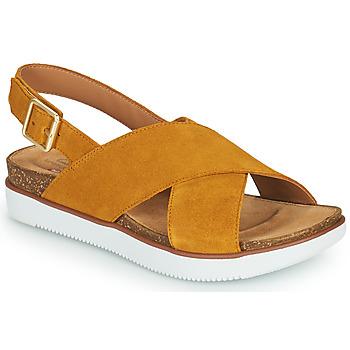 Sapatos Mulher Sandálias Clarks ELAYNE CROSS Mostarda
