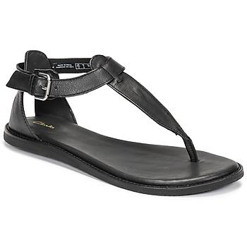 Sapatos Mulher Sandálias Clarks KARSEA POST Preto