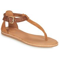 Sapatos Mulher Sandálias Clarks KARSEA POST Castanho / Camel