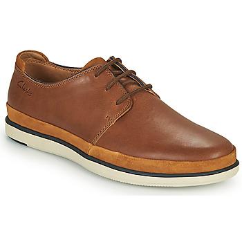 Sapatos Homem Sapatos Clarks BRATTON LACE Castanho
