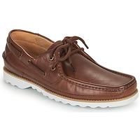Sapatos Homem Sapato de vela Clarks DURLEIGH SAIL Castanho