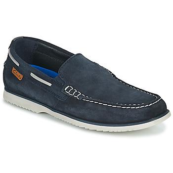 Sapatos Homem Sapato de vela Clarks NOONAN STEP Azul