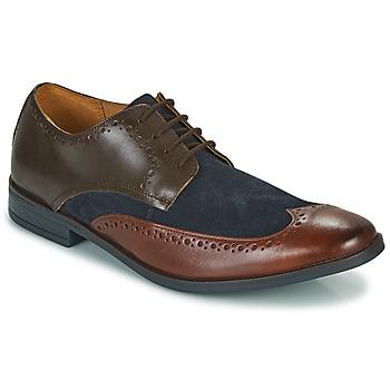 Sapatos Homem Sapatos Clarks STANFORD LIMIT Castanho / Azul