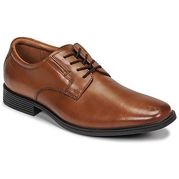 Sapatos Homem Sapatos Clarks TILDEN PLAIN Castanho