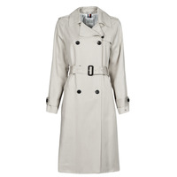 Textil Mulher Trench Tommy Hilfiger DB LYOCELL FLUID TRENCH Bege