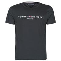Textil Homem T-Shirt mangas curtas Tommy Hilfiger CORE TOMMY LOGO Preto
