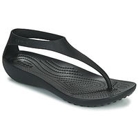 Sapatos Mulher Chinelos Crocs CROCS SERENA FLIP W Preto
