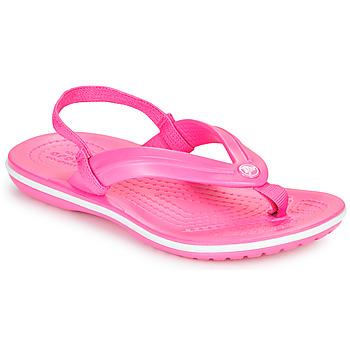 Sapatos Rapariga Chinelos Crocs CROCBAND STRAP FLIP K Rosa