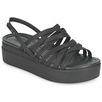 Sapatos Mulher Sandálias Crocs CROCS BROOKLYN STRAPPY LOWWDGW Preto