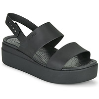 Sapatos Mulher Sandálias Crocs CROCS BROOKLYN LOW WEDGE W Preto