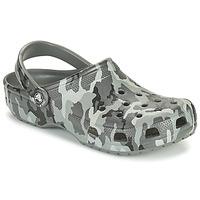 Sapatos Homem Tamancos Crocs CLASSIC PRINTED CAMO CLOG Camuflagem / Cinza