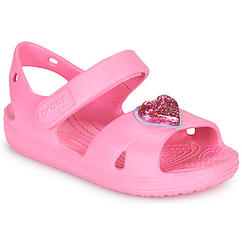Sapatos Rapariga Sandálias Crocs CLASSICCROSSSTRAPCHARMSANDAL T Rosa