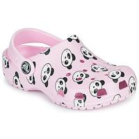 Sapatos Rapariga Tamancos Crocs CLASSIC PANDA PRINT CLOG K Rosa