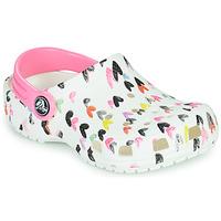 Sapatos Rapariga Tamancos Crocs CLASSIC HEART PRINT CLOG K Branco / Vermelho