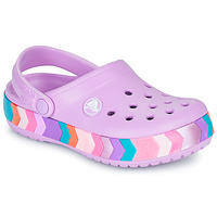 Sapatos Rapariga Tamancos Crocs CROCBAND CHEVRON BEADED CLOG K Violeta / Multicolor
