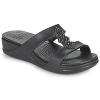 Sapatos Mulher Chinelos Crocs CROCSMONTEREYSHIMMERSLPONWDG W Preto