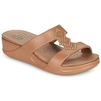 Sapatos Mulher Chinelos Crocs CROCSMONTEREYSHIMMERSLPONWDG W Bronze