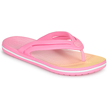 Sapatos Mulher Chinelos Crocs CROCBAND OMBRE FLIP W Rosa