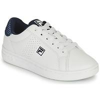 Sapatos Rapaz Sapatilhas Fila CROSSCOURT 2 NT KIDS Branco / Azul