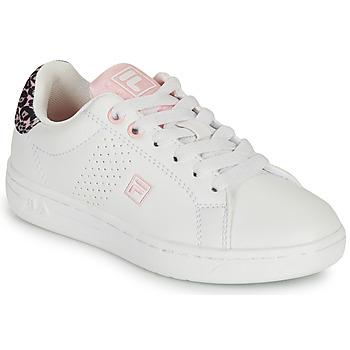 Sapatos Rapariga Sapatilhas Fila CROSSCOURT 2 NT KIDS Branco / Rosa
