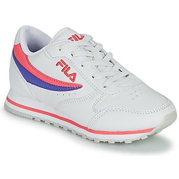 Sapatos Rapariga Sapatilhas Fila ORBIT LOW KIDS Branco / Rosa