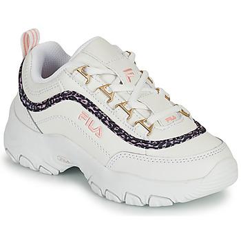 Sapatos Rapariga Sapatilhas Fila STRADA A LOW JR Branco / Bege