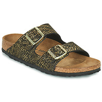 Sapatos Mulher Chinelos Birkenstock ARIZONA Preto / Ouro
