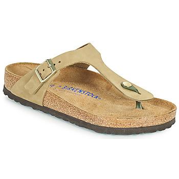 Sapatos Mulher Chinelos Birkenstock GIZEH SFB Castanho