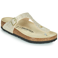 Sapatos Mulher Chinelos Birkenstock GIZEH Ouro