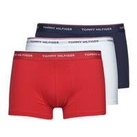 Roupa de interior Homem Boxer Tommy Hilfiger TRUNK X3 Branco / Vermelho / Marinho