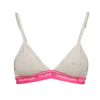Roupa de interior Mulher Triangulares Calvin Klein Jeans UNLINED TRIANGLE Cinza / Rosa