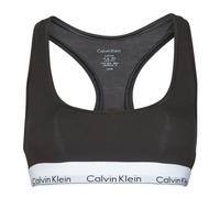 Roupa de interior Mulher Soutiãs sem arco Calvin Klein Jeans MODERN COTTON UNLINED BRALETTE Preto
