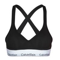 Roupa de interior Mulher Soutiãs sem arco Calvin Klein Jeans MODERN COTTON BRALETTE LIFT Preto