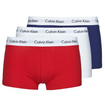 Roupa de interior Homem Boxer Calvin Klein Jeans RISE TRUNK X3 Marinho / Branco / Vermelho