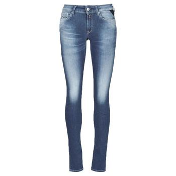Textil Mulher Gangas Skinny Replay HYPERFLEX LUZ Azul